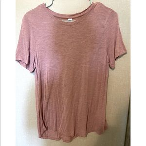 Pink top with subtle sparkles